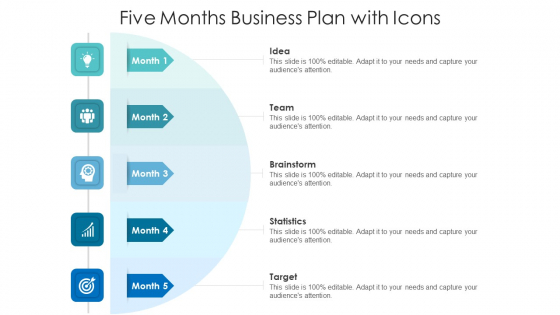 Five Months Business Plan With Icons Ppt Pictures Smartart PDF