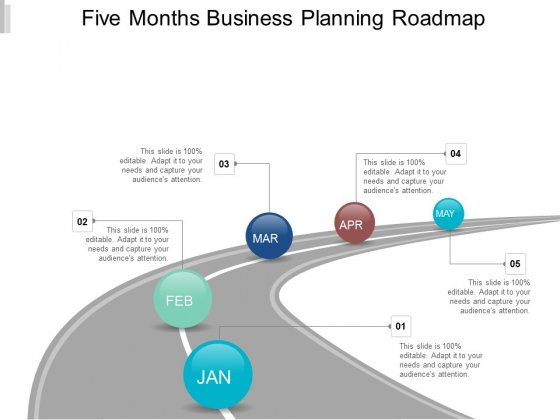 Five Months Business Planning Roadmap Ppt Powerpoint Presentation File Example File