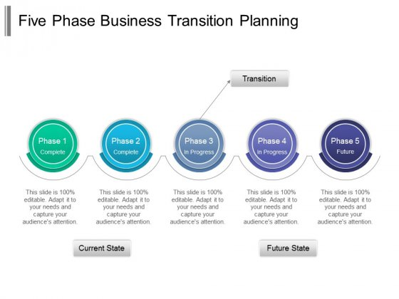 Five Phase Business Transition Planning Ppt PowerPoint Presentation Infographic Template Layout