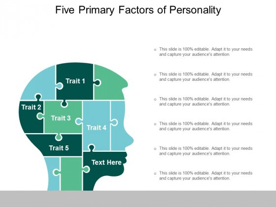 five primary factors of personality ppt powerpoint presentation summary influencers