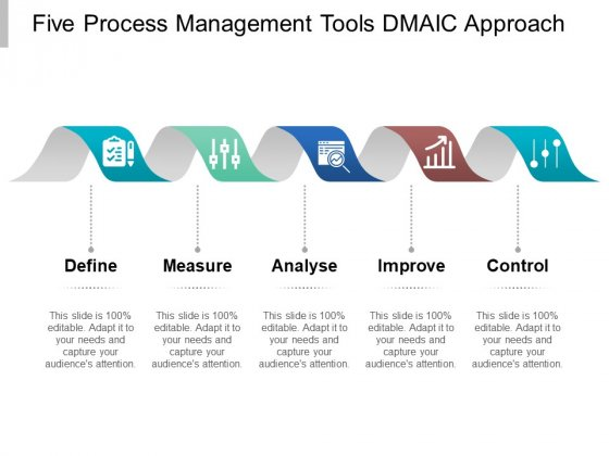 Five Process Management Tools Dmaic Approach Ppt PowerPoint Presentation File Layouts