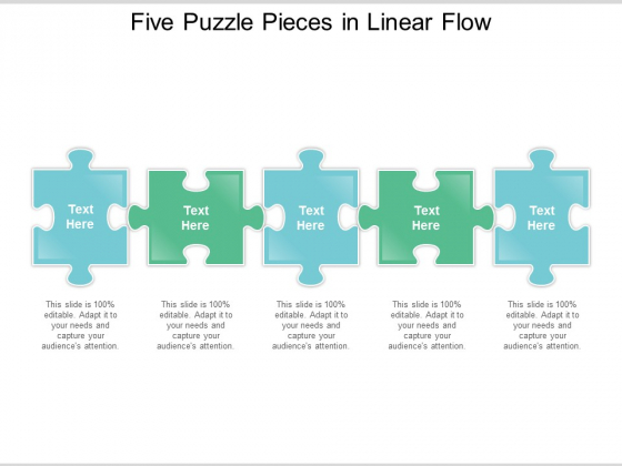 Five Puzzle Pieces In Linear Flow Ppt Powerpoint Presentation Infographics Infographic Template