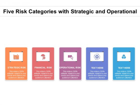 Five Risk Categories With Strategic And Operational Ppt PowerPoint Presentation Slides Icons PDF