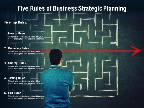 Five Rules Of Business Strategic Planning Ppt PowerPoint Presentation Gallery Icons