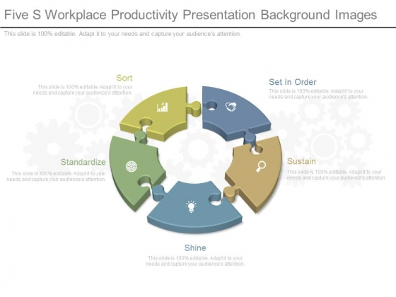 Five S Workplace Productivity Presentation Background Images
