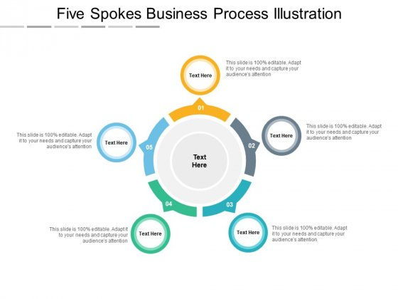 Five Spokes Business Process Illustration Ppt PowerPoint Presentation Outline Grid