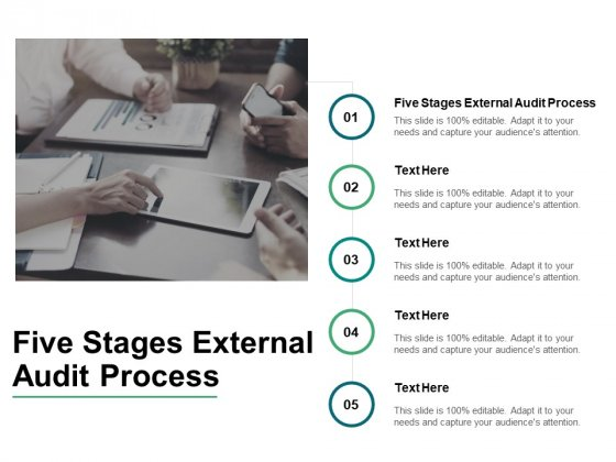 Five Stages External Audit Process Ppt PowerPoint Presentation Professional Infographic Template Cpb
