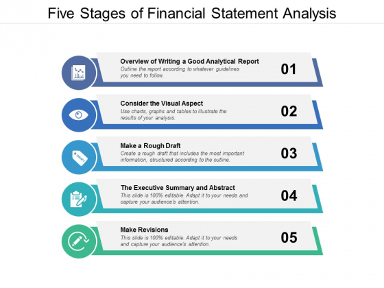 Five Stages Of Financial Statement Analysis Ppt PowerPoint Presentation Model Background Designs