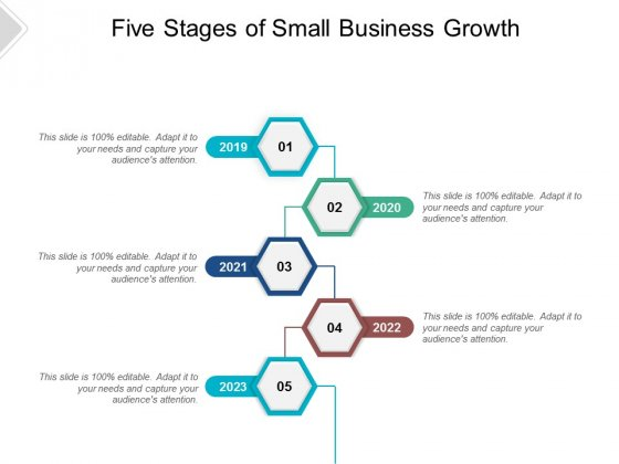 Five Stages Of Small Business Growth Ppt PowerPoint Presentation File Slideshow