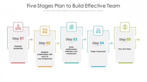 Five Stages Plan To Build Effective Team Ppt PowerPoint Presentation File Background Images PDF