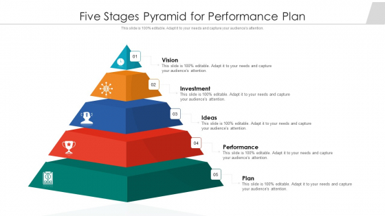 Five Stages Pyramid For Performance Plan Ppt PowerPoint Presentation Gallery Visuals PDF