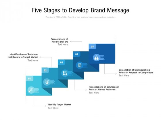 Five Stages To Develop Brand Message Ppt PowerPoint Presentation Outline Background Image