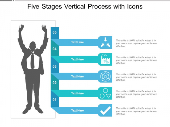 Five Stages Vertical Process With Icons Ppt PowerPoint Presentation Portfolio Diagrams