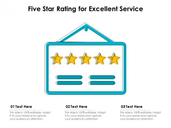 Five_Star_Rating_For_Excellent_Service_Ppt_PowerPoint_Presentation_Pictures_Background_Designs_PDF_Slide_1