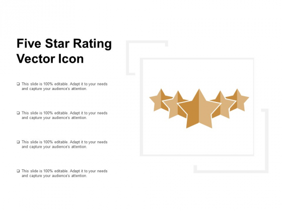 Five Star Rating Vector Icon Ppt PowerPoint Presentation Portfolio Graphics