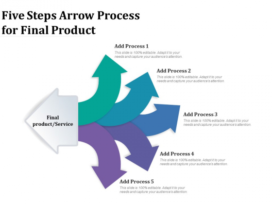 Five Steps Arrow Process For Final Product Ppt PowerPoint Presentation Infographic Template Graphics PDF
