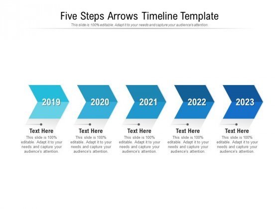Five Steps Arrows Timeline Template Ppt PowerPoint Presentation Ideas Layout Ideas