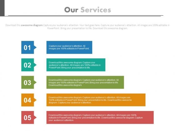 Five Steps Chart For Underlying Assumptions Powerpoint Template