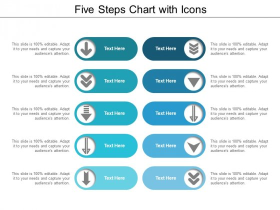 Five Steps Chart With Icons Ppt PowerPoint Presentation Infographics Guidelines