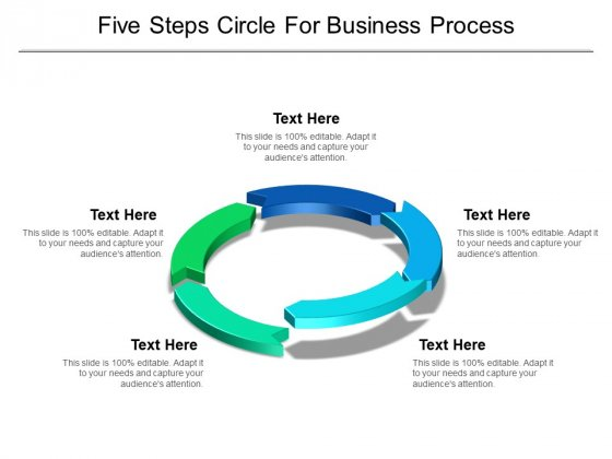 Five Steps Circle For Business Process Ppt PowerPoint Presentation Inspiration Tips