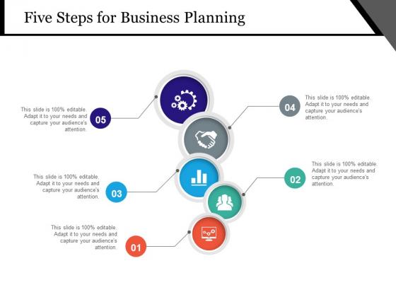 Five Steps For Business Planning Ppt PowerPoint Presentation Show Slide Download