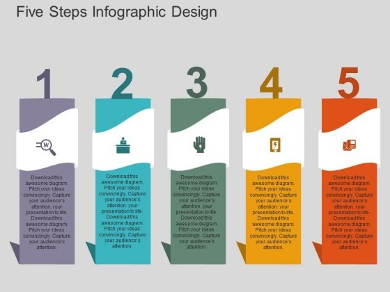 Five Steps Infographic Design Powerpoint Templates Powerpoint