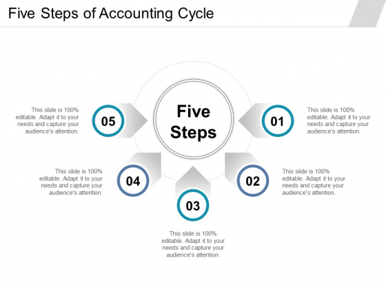 Five Steps Of Accounting Cycle Ppt PowerPoint Presentation Infographics Graphics Download