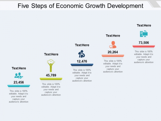 Five Steps Of Economic Growth Development Ppt PowerPoint Presentation Layouts Good