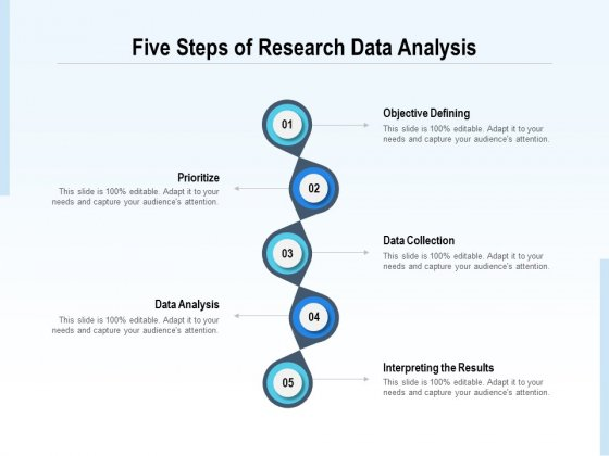 Five Steps Of Research Data Analysis Ppt PowerPoint Presentation Gallery Styles