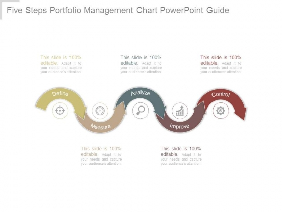 Five Steps Portfolio Management Chart Powerpoint Guide