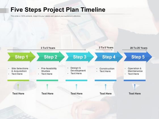 Five_Steps_Project_Plan_Timeline_Ppt_PowerPoint_Presentation_Show_Rules_Slide_1