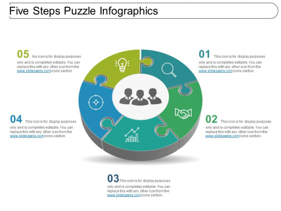 Five Steps Puzzle Infographics Ppt PowerPoint Presentation Summary Background Images