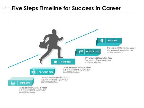 Five Steps Timeline For Success In Career Ppt PowerPoint Presentation Ideas Slides
