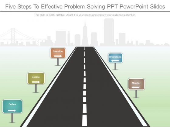Five Steps To Effective Problem Solving Ppt Powerpoint Slides