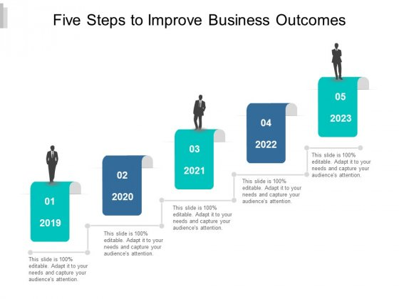 Five Steps To Improve Business Outcomes Ppt PowerPoint Presentation Model Portrait