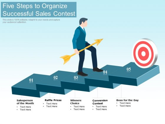 Five Steps To Organize Successful Sales Contest Ppt PowerPoint Presentation Summary Background PDF