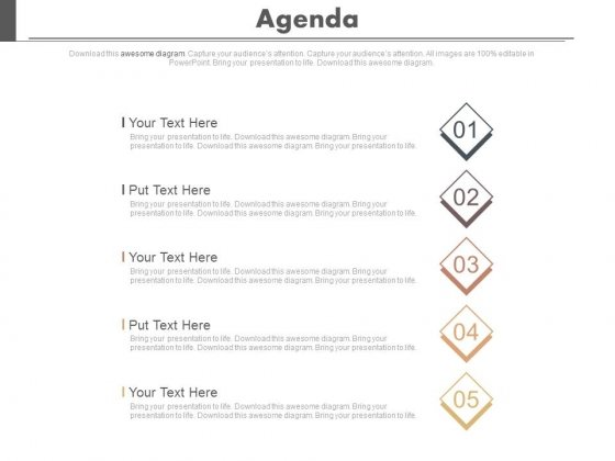 Five_Steps_To_Present_Business_Agenda_Powerpoint_Slides_1
