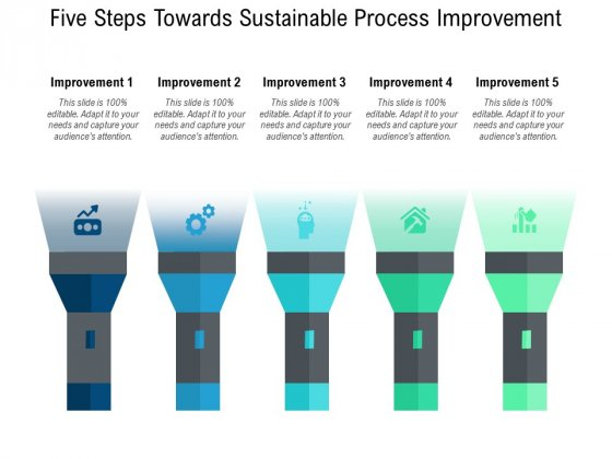 Five Steps Towards Sustainable Process Improvement Ppt PowerPoint Presentation Professional Ideas