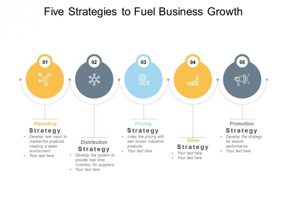 Five Strategies To Fuel Business Growth Ppt PowerPoint Presentation Show Deck