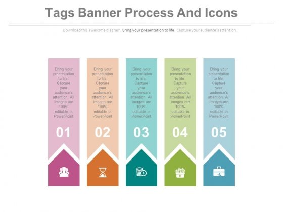 Five Tags For Linear Programming Powerpoint Template