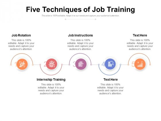 Five Techniques Of Job Training Ppt PowerPoint Presentation Icon Graphics PDF