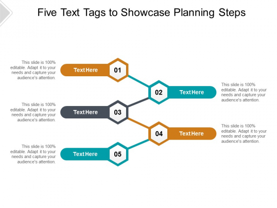 Five Text Tags To Showcase Planning Steps Ppt PowerPoint Presentation Show Graphic Tips