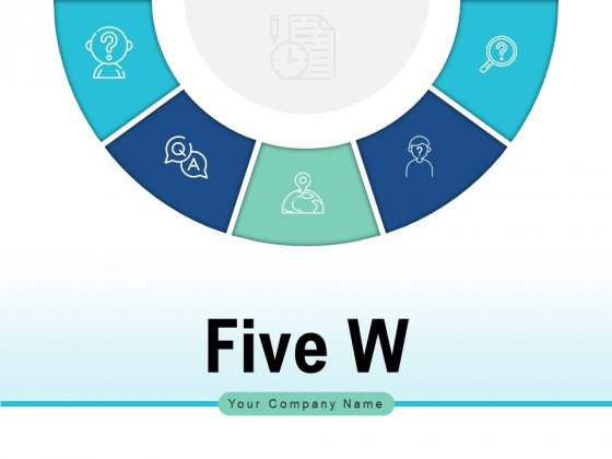 Five W Customer Service Process Ppt PowerPoint Presentation Complete Deck