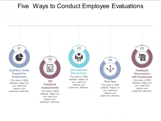 Five Ways To Conduct Employee Evaluations Ppt PowerPoint Presentation Summary Outline