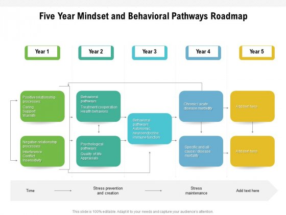 Five Year Mindset And Behavioral Pathways Roadmap Demonstration