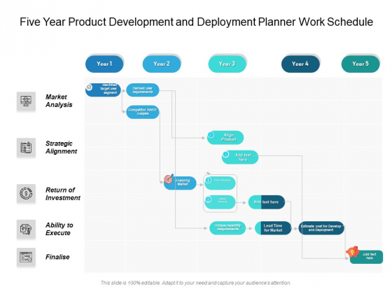 Five_Year_Product_Development_And_Deployment_Planner_Work_Schedule_Structure_Slide_1