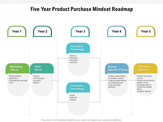 Five Year Product Purchase Mindset Roadmap Brochure