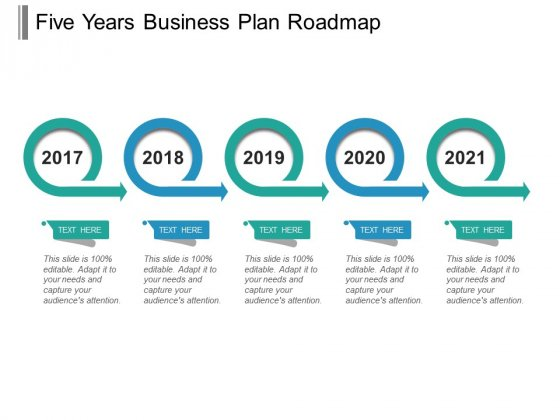 Five Years Business Plan Roadmap Ppt PowerPoint Presentation Icon Demonstration
