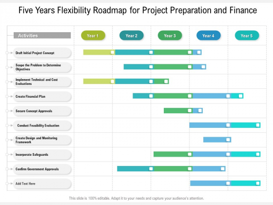 Five Years Flexibility Roadmap For Project Preparation And Finance Designs