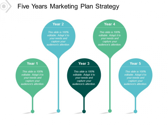 Five Years Marketing Plan Strategy Ppt PowerPoint Presentation Layouts Icons